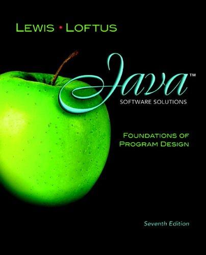 9780132760775: Java Software Solutions: Foundations of Program Design
