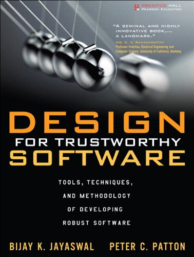 9780132762090: Design for Trustworthy Software: Tools, Techniques, and Methodology of Developing Robust Software