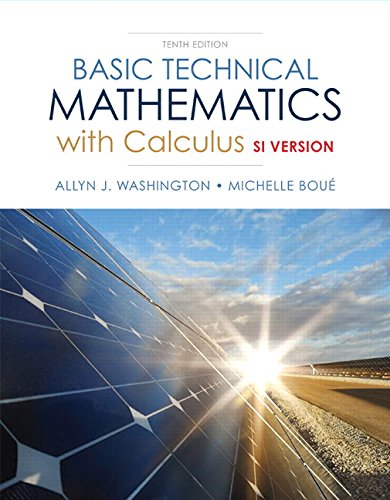 9780132762830: Basic Technical Mathematics with Calculus, SI Version (10th Edition)