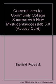 9780132765879: Cornerstones for Community College Success with NEW MyStudentSuccessLab 3.0 (Access Card)