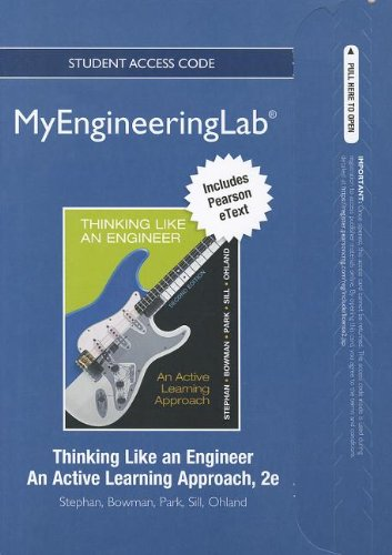 9780132766746: NEW MyEngineeringLab with Pearson eText -- Access Card -- for Thinking Like an Engineer: An Active Learning Approach