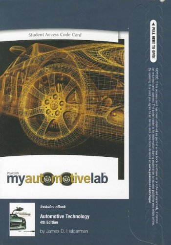 9780132769662: MyAutomotiveLab with Pearson eText -- Access Card -- for Automotive Technology