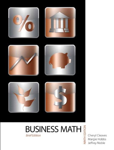 9780132770088: Business Mathematics, Brief Edition Plus MyMathLab -- Access Card Package