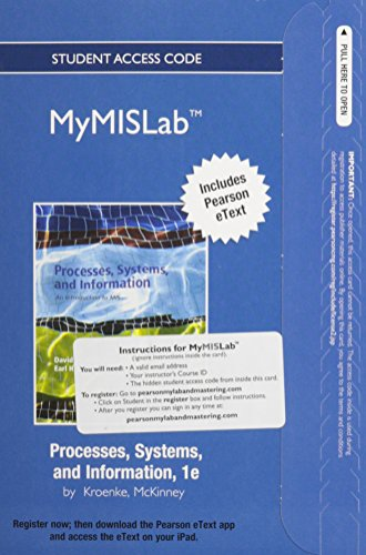 9780132771573: NEW MyMISLab with Pearson eText -- Access Card -- for Processes, Systems, and Information