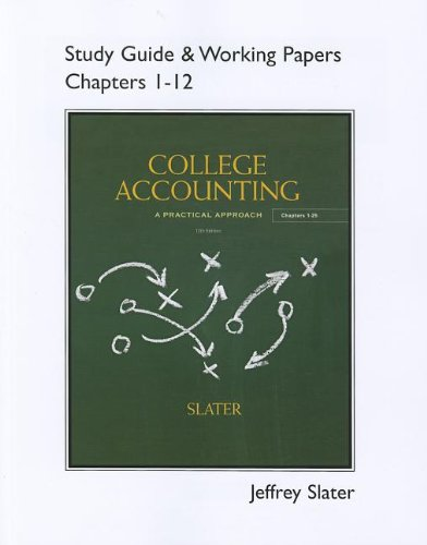 9780132772150: Study Guide & Working Papers for College Accounting Chapters 1-12