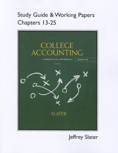 Study Guide & Working Papers for College: Jeffrey Slater
