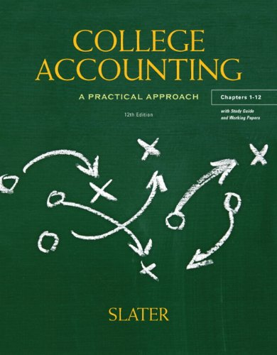 9780132772174: College Accounting, Chapters 1-12: A Practical Approach [With Study Guide]