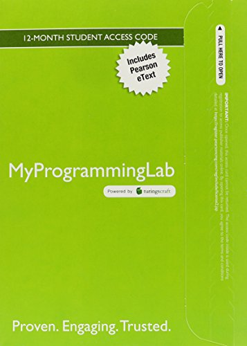 9780132772389: MyProgrammingLab with Pearson eText -- Access Card -- for Java: Intro to Problem Solving and Programming (6th Edition)