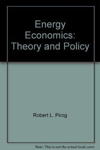 9780132772457: Energy Economics: Theory and Policy