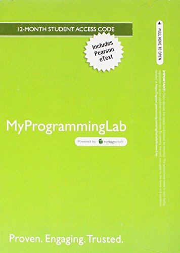 9780132772501: MyProgrammingLab with Pearson eText -- Access Card -- for Problem Solving with C++ (5th Edition)
