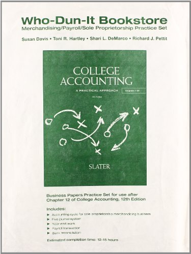 9780132772532: Who-Dun-It Practice Set for College Accounting