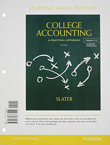 9780132773249: College Accounting Chapers 1-12, Student Value Edition (12th Edition)