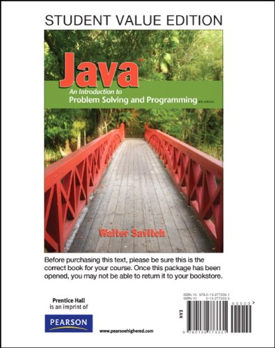 9780132773331: Java: An Introduction to Problem Solving & Programming