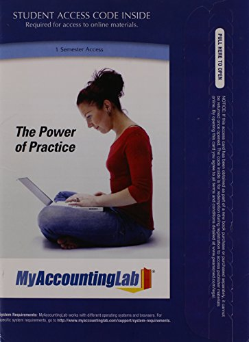 9780132773980: MyAccountingLab with Pearson eText -- Access Card -- for Managerial Accounting