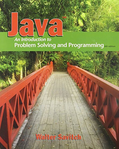 9780132774154: Java: Introduction to Problem Solving and Programming & MyProgrammingLab with Pearson eText Student Access Code Card for Java (6th Edition)