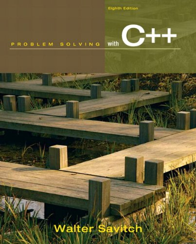 Problem Solving with C++ plus MyProgrammingLab with Pearson eText -- Access Card Package (8th ...