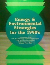 9780132781510: Energy and Environmental Strategies for the 1990's