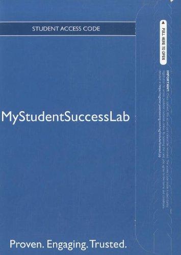 9780132782708: NEW MyStudentSuccessLab 3.0 -- Access Card
