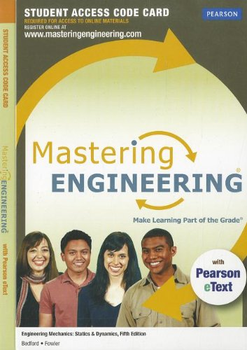 MasteringEngineering with Pearson eText -- Access Card: Bedford, Anthony M^Fowler,