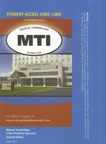 9780132790864: Medical Terminology Interactive Student Access Code Card for Medical Terminology: A Word Building Approach