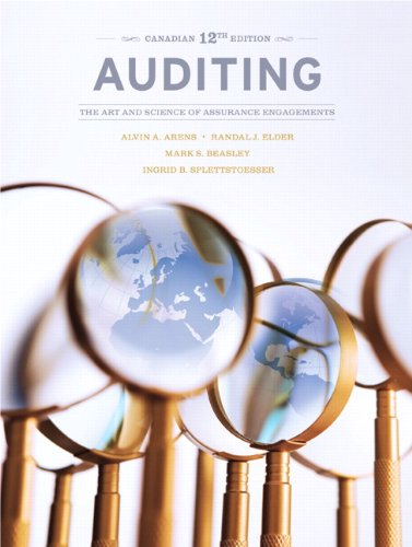 9780132791564: Auditing: The Art and Science of Assurance Engagements, Twelfth Canadian Edition (12th Edition)