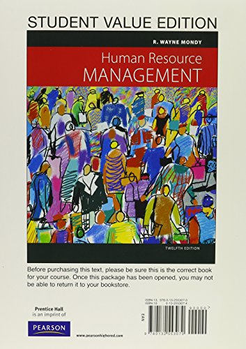 9780132795067: Human Resource Management, Student Value Edition with MyManagementLab (Access Card) (12th Edition)