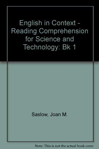 9780132800259: English in Context: Bk. 1: Reading Comprehension for Science and Technology