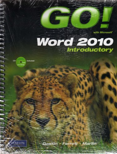 9780132803625: Go! Word 2010 Introductory package with student Video CD and myitlab for Microsoft Office