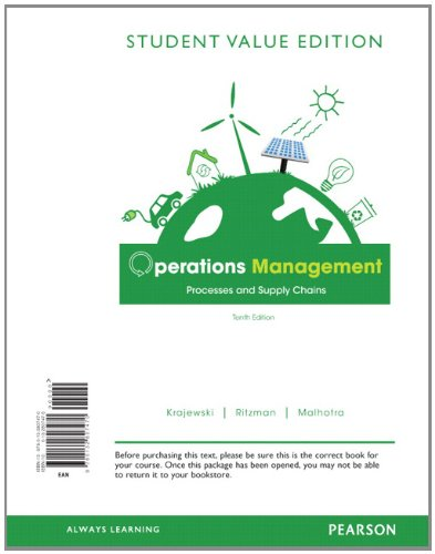 9780132807470: Operations Management, Student Value Edition: Processes and Supply Chains