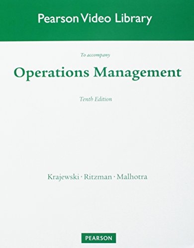 Pearson Video Library DVD to Operations Management: Processes and Supply Chains, 10/E: n/a