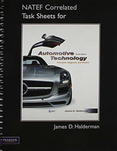 9780132811057: Automotive Technology with NATEF Correlated Task Sheets (4th Edition)