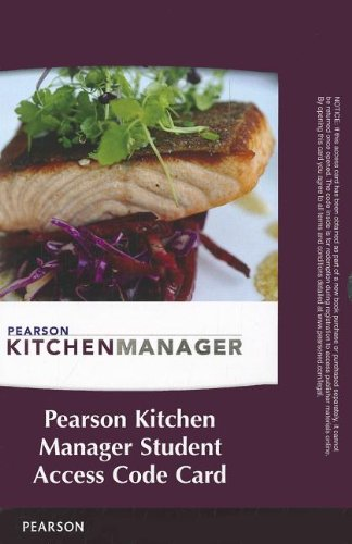 9780132815093: Pearson Kitchen Manager -- Access Code Card