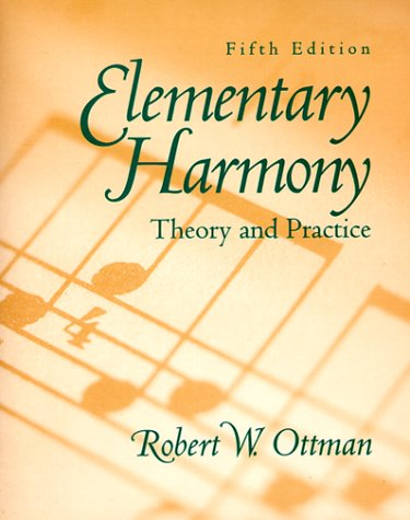 9780132816106: Elementary Harmony [Theory and Practice]