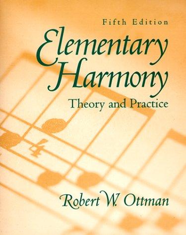 9780132816106: Elementary Harmony [Theory and Practice]