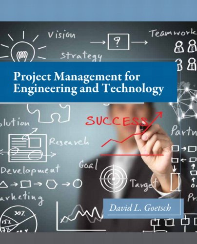 9780132816403: Project Management for Engineering and Technology