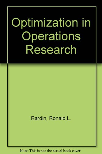 9780132819251: Optimization in Operations Research