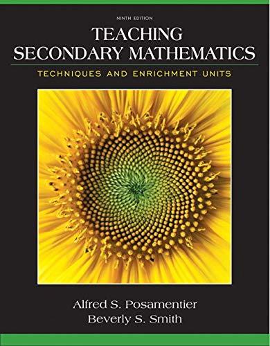 9780132824835: Teaching Secondary Mathematics: Techniques and Enrichment Units