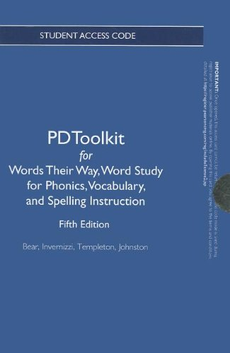9780132825368: PDToolkit -- Renewal Access Card -- for Words Their Way: Word Study for Phonics, Vocabulary and Spelling Instruction (Words Their Way Series)