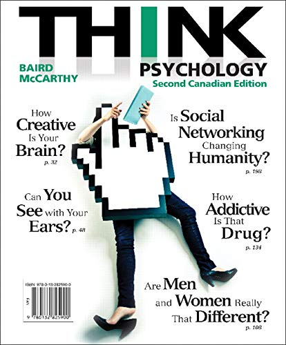 9780132825900: THINK Psychology, Second Canadian Edition (2nd Edition)