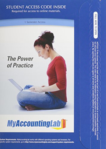 9780132829441: NEW MyLab Accounting with Pearson eText -- Access Card -- for Managerial Accounting: Decision Making and Motivating Performance, 1/e