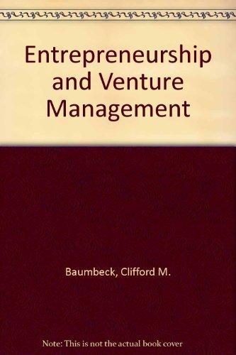 9780132830782: Entrepreneurship and Venture Management
