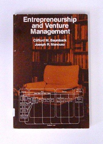 9780132831192: Entrepreneurship and Venture Management