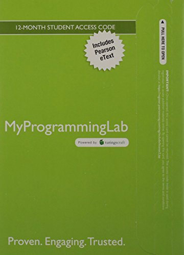 9780132831321: MyProgrammingLab with Pearson eText -- Access Card -- for Practice of Computing using Python (2nd Edition) (MyProgrammingLab (Access Codes))