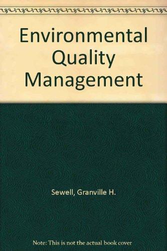 9780132831680: Environmental Quality Management