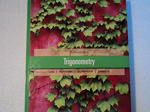 9780132832588: Trigonometry 10th Edition