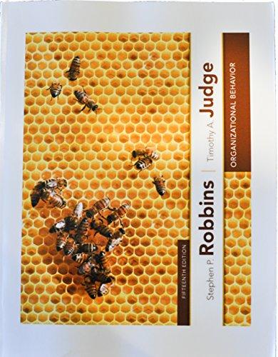 9780132834919: Organizational Behavior (15th Edition) Softcover