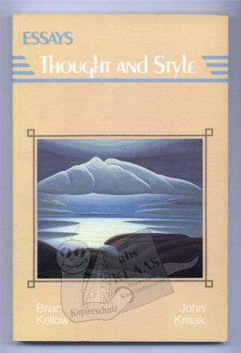 9780132835732: Essays: Thought and Style.