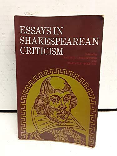 Essays in Shakespearean Criticism: Calderwood, James L.;
