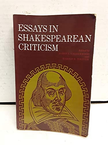 9780132836487: Essays in Shakespearean Criticism
