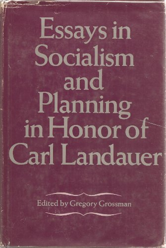 9780132836890: Essays in Socialism and Planning in Honour of Carl Landauer